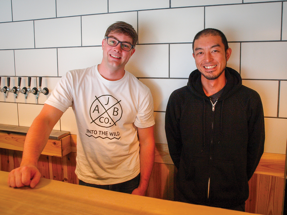 Tom and assistant brewer, Kobayashi Shingo